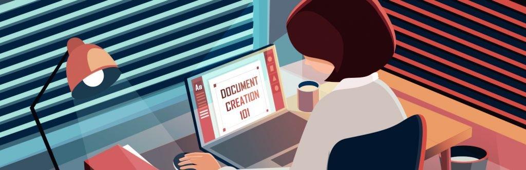 Document Creation Illustration