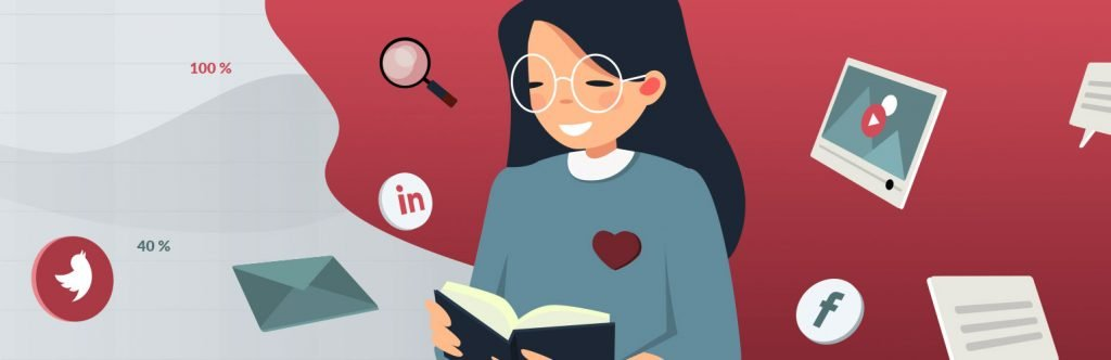 Digital Customer Engagement Illustration