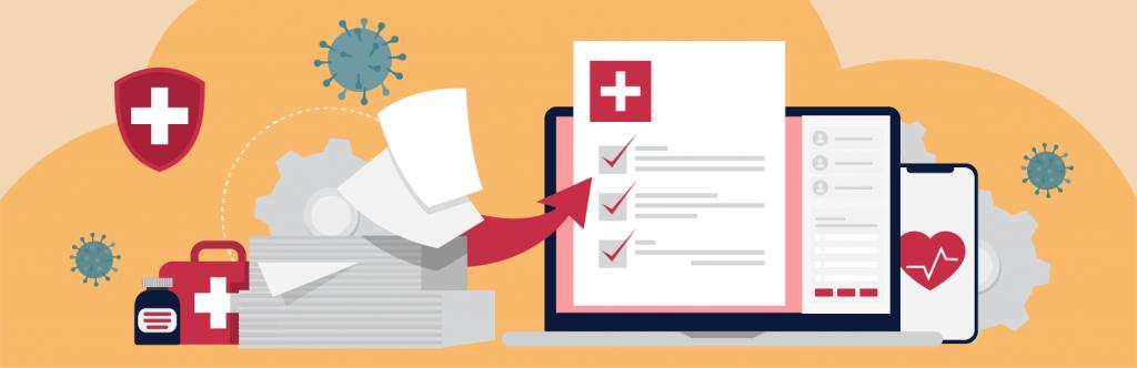Healthcare Digital Transformation Trends Illustration