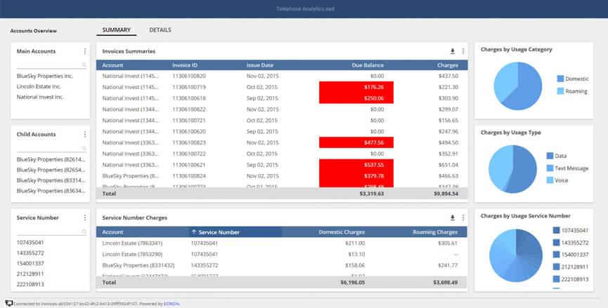 Analytics Invoice Interactive Sample