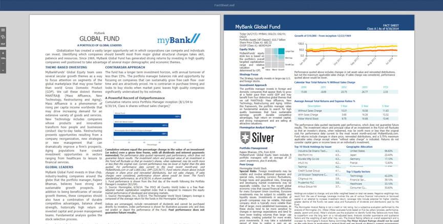 Fund Profile Interactive Sample