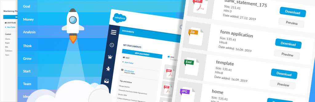 Salesforce Document Generator Illustration