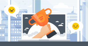 Winning and Grinning Through 2021 with Employee Self-Service banner illustration