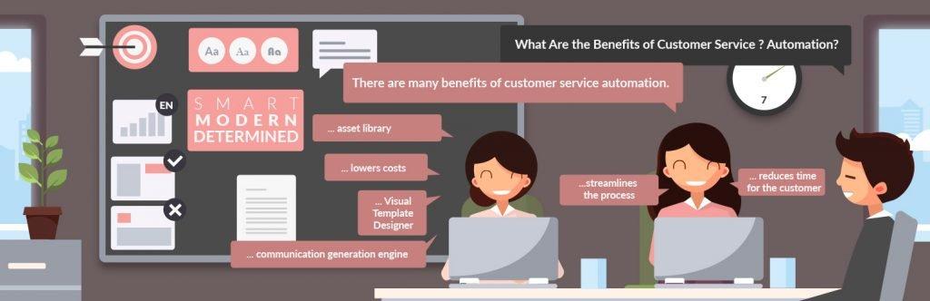 Customer Service Automation Illustration