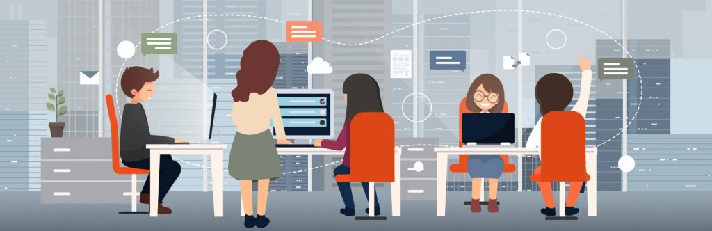 Team Collaboration Illustration