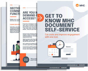 MHC Document Self Service Guide Cover