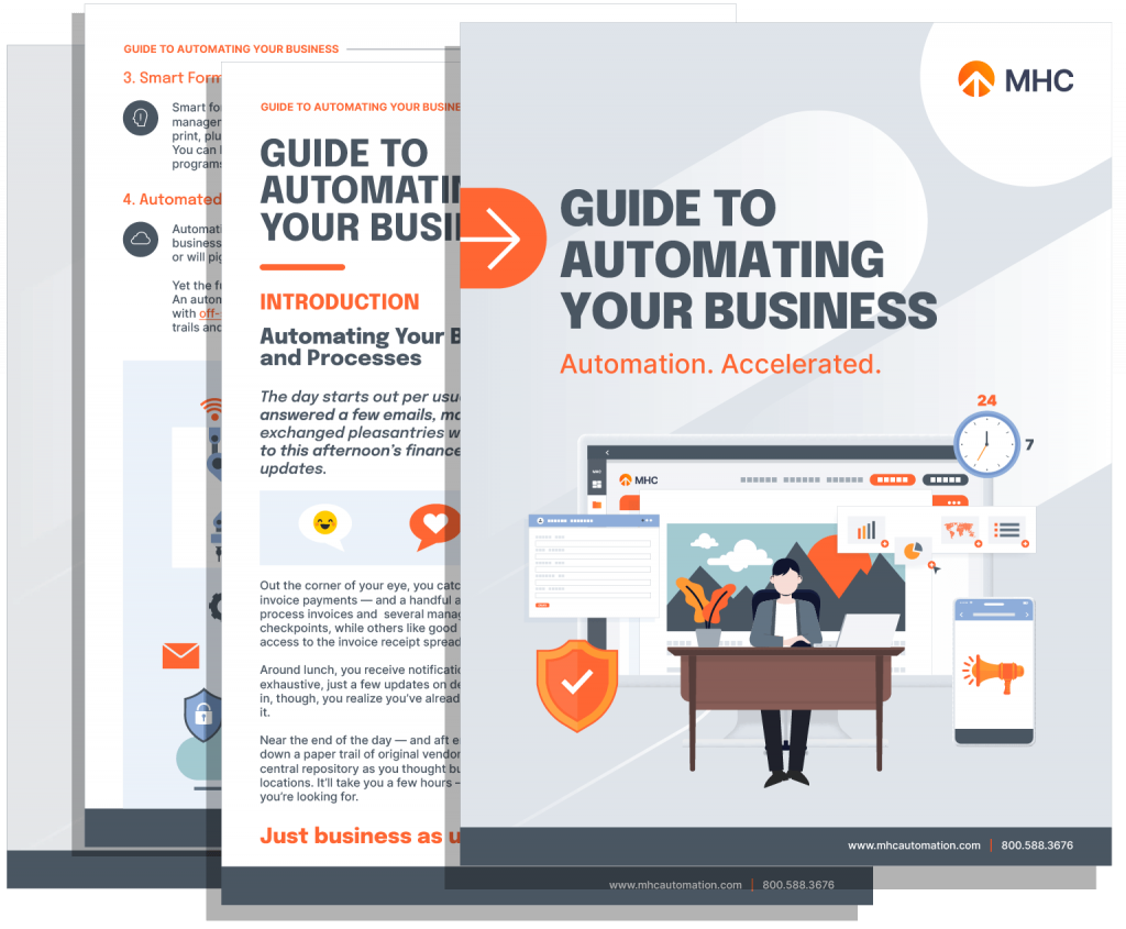 Guide to automating your business Whitepaper Cover - Multiple Pages